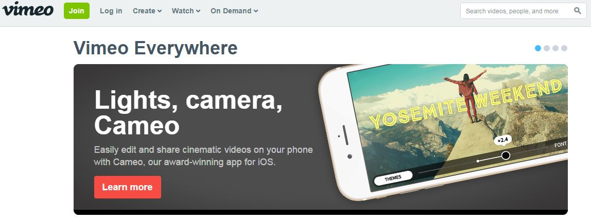Vimeo video playing and delivery platform