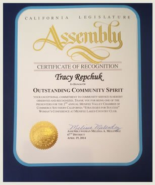 Assembly Outstanding Community Spirit Award